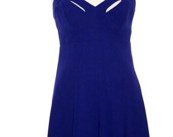 Purple Nicole Miller Cut Out Dress - Size 4