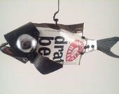 Found Object Beer Can Fish: Iron City Draft Beer