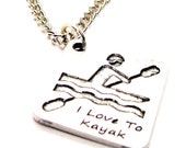 I Love To Kayak Necklace
