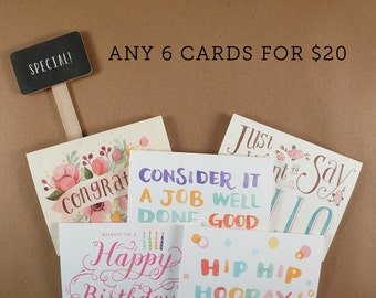 Any 6 Cards for 20 Dollars - Special Promotion