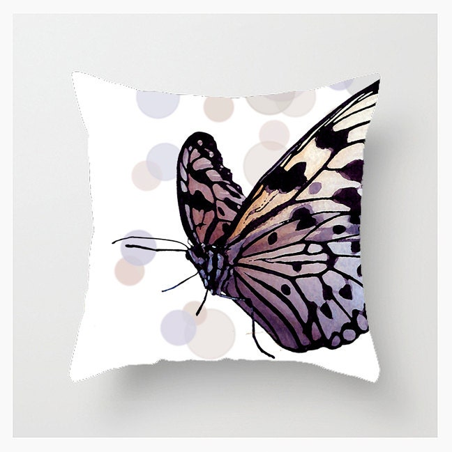 Personalized Butterfly Heart Throw Pillow Cover : Throw Pillow Cover 16x16 18x18 20x20 Home Decor Bokeh