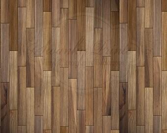 NEW ITEM 7ft x 7ft Vinyl Photography Backdrop / Multi Brown Wood