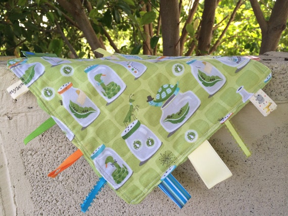 SALE Backyard Baby Bugs in Jars Tag Blanket //In Stock, Ready to Ship