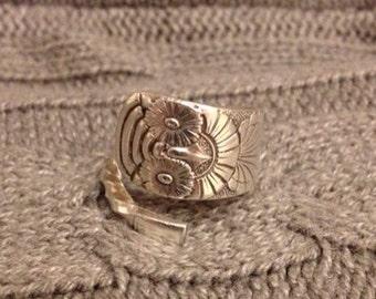 Owl 1892 Demitasse Spoon Ring