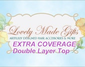 EXTRA COVERAGE Double Layer Top ONLY - Purchased in Addition To Flower Girl Dress