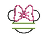 Split Minnie Mouse Embroidery Design, Minnie Mouse Applique Design (198) Instant Download