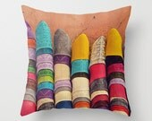Rainbow Pillow, Shoes, Babouches, Morocco, Travel Cushion, Colorful, Slippers, Ethnic Home Decor, Market, Africa, Pile of Shoes, Boho Decor