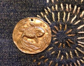 Bronze Ranchu Goldfish Pendant