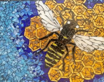 Honeybee Glass Mosaic