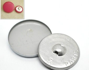 5 Coverable Metal Buttons for Custom Fabric Covering - 49mm - 5 Sets -  Ships IMMEDIATELY  from California - A332