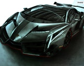 Drawing-Lamborghini Veneno, Original on A3 Bristol board