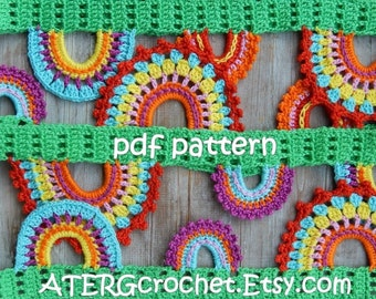Crochet pattern lovely garland by ATERGcrochet