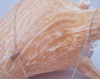 Sterling Silver Love Necklace Sterling Silver Women Love pendant Silver Love Letter Necklace Gift under 30
