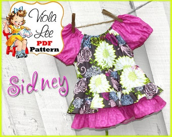 Sidney.....Peasant Top Pattern. Girl's Top Pattern. PDF, Girl's Sewing Pattern. Girl's Peasant Pattern, Toddler, Infant