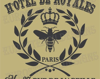 French Bee Stencil