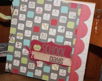 premade handmade scrapbook album kit scrapscription school days 12x12 chipboard