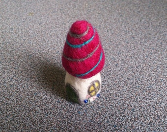 Miniature fairy house needle felted home decor gift under 25