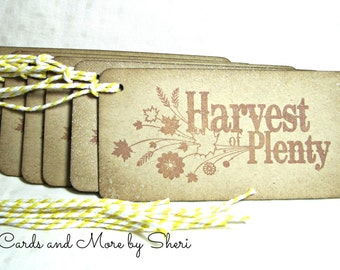 Harvest of Plenty Gift Tags