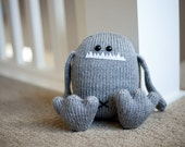 Hand Knit Stuffed Animal Monster Toy