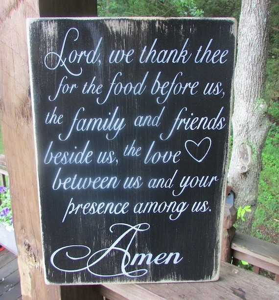 Kitchen Sign Wood Sign Primitive Sign Say Grace Sign