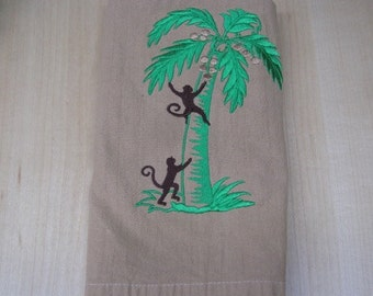 Monkeys in the Coconut Tree Towel- DISCOUNTED for FLAW