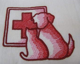 Vet Cat and Dog Logo Towel - DISCOUNTED FOR FLAW