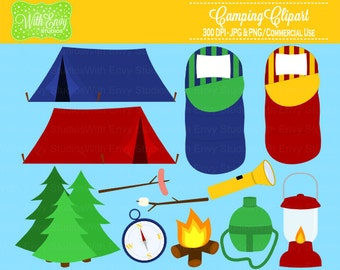50% OFF Camping Clipart - Campfire Clipart - Outdoor Clipart - Camping Graphics - Personal and Commerical Use