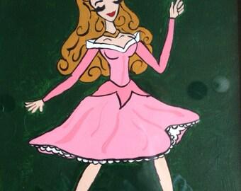 Princess Aurora Framed Original Painting