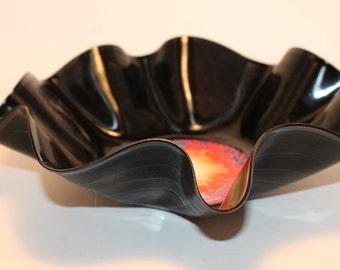 "Recycled vinyl Journey ""Escape""  record bowl, vinyl bowl, decorative bowl,"