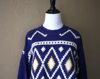 Mens Vintage Festive Winter Knit Sweater