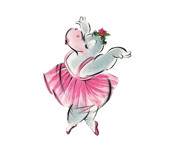 Vintage birthday card hippo ballerina jpeg png instant vintage birthday card hippo ballerina jpeg png instant download digital download birthday clipart bookmarktalkfo Image collections