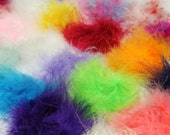 Marabou feather Puffs 2-2.5 inches - set of 12