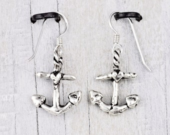 Anchor Earring- Anchor Jewelry- Inspirational Jewelry -Nautical Earrings -E870
