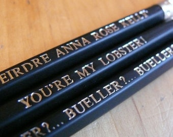 Set of 3 Personalised Pencils - ALL PRINTED DIFFERENTLY!