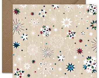 Colourful Christmas Snowflakes Greeting card or greeting card set