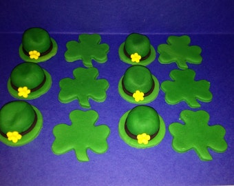 Fondant Toppers - St. Patrick's Day