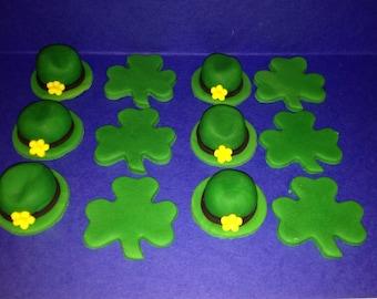 Fondant Toppers - St. Patrick's Day