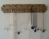 Necklace Watches Bracelets Belts Jewelry Rack Organizer Stained Only Wooden With Concave Corner Design