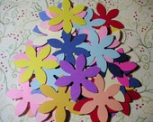 50 flowers, Cardstock, Die Cut, 2 inch, Embellishment, Scrapbook, Tags, Weddings