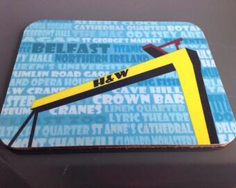 Crane coaster (4 pack)