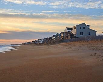 Kitty Hawk Beach Beach Homes Outer Banks Sunrise Beach Photograph Ocean Print Beach Decor Landscape Coastal Decor Nautical Decor