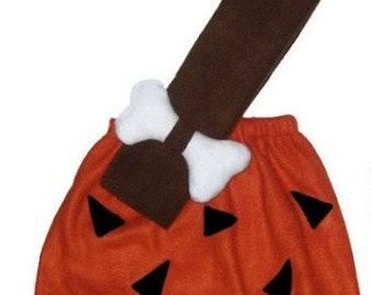 Bamm Bamm Flintstones Rust/Brown or Orange/Black Custom Made Halloween Costume 12/18M 24M/2T 3T/4T 5/6