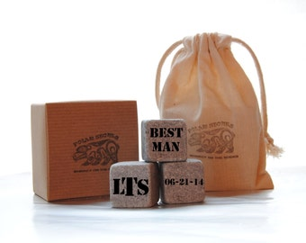 Custom Personalized Groomsman Whiskey Stones Gift - Custom engraved Groomsman Gift - Best Man Gift - Personalized gift