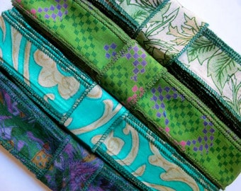 Green Silk Ribbon, 4 colors, K64