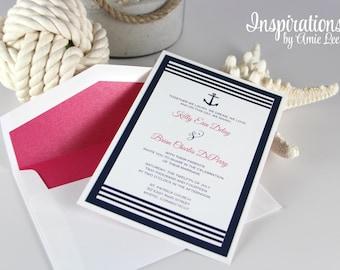 Nautical Wedding Invitations, Nautical, Navy invitations