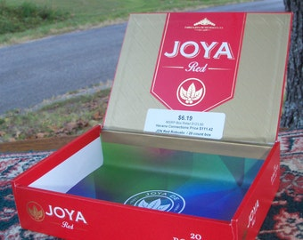 Cigar Box Joya Red Nice Edition Man Gift Wooden Treasure Chest Upcycled Box Two In Stock by IndustrialPlanet