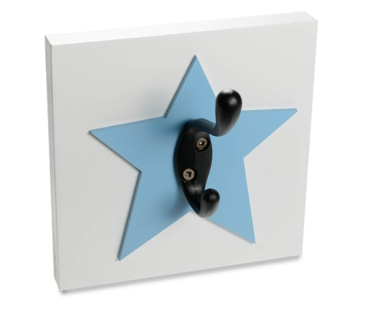 Blue Star Wall Decor : Blue star wall hook kids nursery decor bathroom