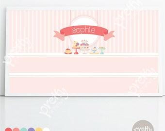 Printable Backdrop | The Cake Shop | Personalised Digital PDF