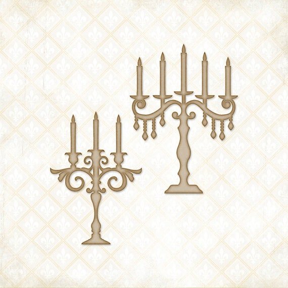 30% OFF 2 DAYS ONLY - Blue Fern Studios Chipboard - Candelabra