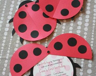 DIY Ladybug Birthday Party Invitation
